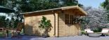 Caseta de madera para jardín PALMA (34 mm), 4x4 m, 16 m² visualization 2