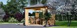 Cenador de madera 16 m² (4x4) 44 mm visualization 5