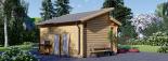 Caseta de jardín ALABAMA 20 m² (4,5x4,5) 44 mm visualization 4