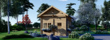 Casa de madera para jardín AVIGNON (44 mm), 20 m² de dos plantas visualization 2