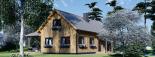 Casa de madera para vivir VERA (44+44 mm, aislada PLUS), 132 m² visualization 8