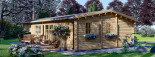 Casa de madera UZES (44 mm), 70 m² visualization 6