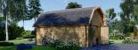 Garaje de madera MISSISSIPPI (44 mm), 5x6 m, 30 m² visualization 5