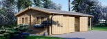 Garaje de madera double 595x595 44 mm + Cochera 300x595, 54 m² visualization 5