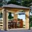 Cenador de madera (44 mm), 3x3 m, 9 m² visualization 1