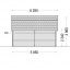 Garaje de madera MISSISSIPPI (44 mm), 5x6 m, 30 m² specification 5
