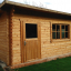 Caseta de jardín de madera DREUX con tejado plano (44 mm), 4x3 m, 12 m² customer 3