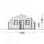 Garaje de madera TEXAS (44 mm), 6x6 m, 36 m² specification 4