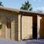 Garaje de madera DOBLE ALTERNATIVE (44 mm), 6x6 m, 36 m² visualization 1