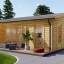 Casa de madera para jardín MILA (44 mm), 56 m² visualization 1