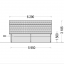 Garaje de madera TEXAS (44 mm), 6x6 m, 36 m² specification 3
