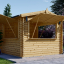Chiringuito de madera (44 mm), 4x4 m, 16 m² visualization 1