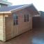 Cabaña de madera para jardín DREUX (44 mm), 5x5 m, 25 m² customer 1