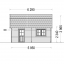 Garaje de madera MISSISSIPPI (44 mm), 5x6 m, 30 m² specification 3