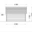Caseta de madera ORLANDO (34 mm), 4x4 m, 16 m² specification 5