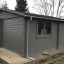 Garaje de madera doble (44 mm), 6x6 m, 36 m² customer 2