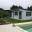 Caseta de jardín de madera DREUX con tejado plano (44 mm), 4x3 m, 12 m² customer 2