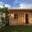 Caseta de jardín de madera DREUX con tejado plano (44 mm), 4x3 m, 12 m² customer 1