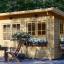 Caseta de jardin LILLE con tejado plano 12 m² (4x3) 34 mm visualization 1