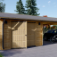 Garaje de madera (44 mm), 4x6 m + Cochera doble 5.5x6 m, 57 m² visualization 1