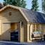 Garaje de madera MISSISSIPPI (44 mm), 5x6 m, 30 m² visualization 1