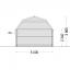 Garaje de madera MISSISSIPPI (44 mm), 5x6 m, 30 m² specification 4