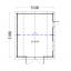 Garaje de madera MISSISSIPPI (44 mm), 5x6 m, 30 m² specification 1