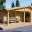 Casa de madera para vivir LINDA (44+44 mm, aislada PLUS), 78 m² visualization 1