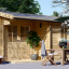Caseta de jardín OSLO 19.5 m² 34 mm visualization 1