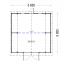 Garaje de madera TEXAS (44 mm), 6x6 m, 36 m² specification 1