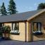 Casa de madera GRETA (44+44 mm), 54 m² visualization 1