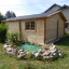 Garaje de madera 600x600 44 mm, 36 m² customer 2