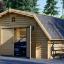 Garaje de madera TEXAS (44 mm), 6x6 m, 36 m² visualization 1