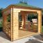 Cenador de madera 9 m² (3x3) 44 mm customer 2